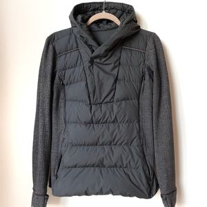 Lululemon Fluff Off Pullover Black Herringbone